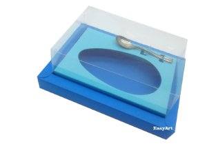 Caixa para Ovos de Colher 250g / Azul Turquesa / Azul Tiffany