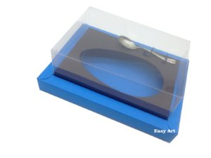 Caixa para Ovos de Colher 250g Azul Turquesa / Marrom Chocolate
