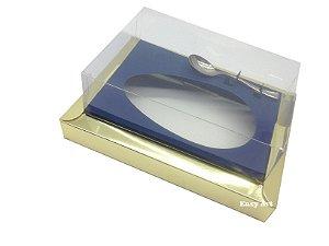 Caixa para Ovos de Colher 250g Dourado / Azul Marinho