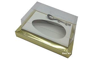 Caixa para Ovos de Colher 250g Dourado / Branco