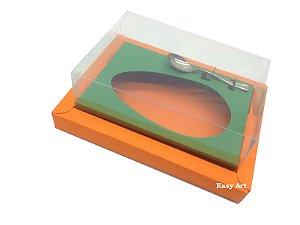 Caixa para Ovos de Colher 250g Laranja / Verde Bandeira