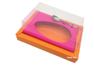 Caixa para Ovos de Colher 250g Laranja / Pink
