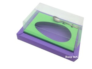 Caixa para Ovos de Colher 250g Lilás / Verde Pistache