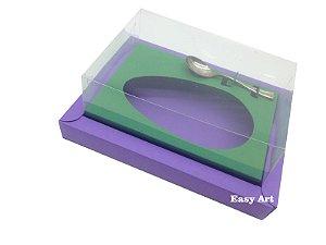 Caixa para Ovos de Colher 250g Lilás / Verde Bandeira