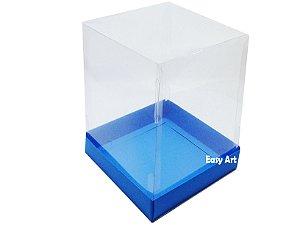 Caixa para Mini Bolos / Mini Panetone - Azul Turquesa