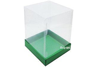 Caixa para Mini Bolos / Mini Panetone - Verde Bandeira