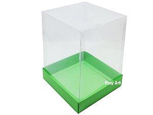 Caixa para Mini Bolos / Mini Panetone - Verde Pistache