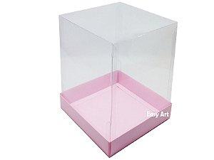Caixa para Mini Bolos / Mini Panetone - Rosa Claro