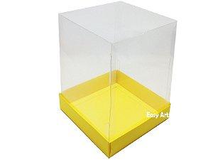 Caixa para Mini Bolos / Mini Panetones - Amarelo