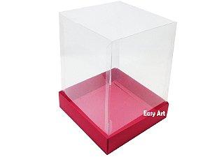 Caixa para Mini Bolos / Mini Panetone 10x10x15 - Vermelho