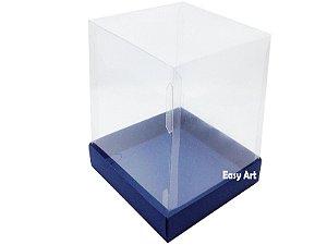 Caixa para Mini Bolos / Mini Panetone - Azul Marinho