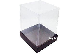 Caixa para Mini Bolos / Mini Panetone - Marrom Chocolate