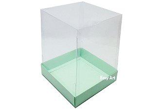 Caixa para Mini Bolos / Mini Panetone - Verde Claro