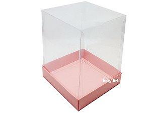Caixa para Mini Bolos / Mini Panetone - Salmão