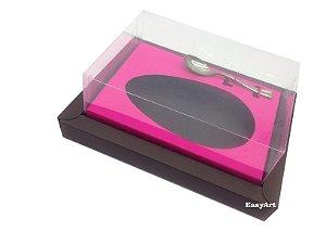 Caixa para Ovos de Colher 250g Marrom / Pink