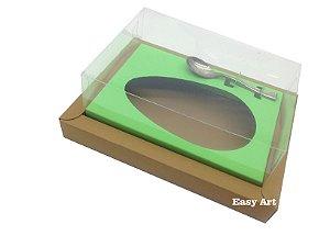 Caixa para Ovos de Colher 250g Marrom Claro / Verde Pistache