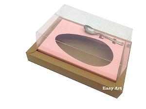 Caixa para Ovos de Colher 250g Marrom Claro / Salmão