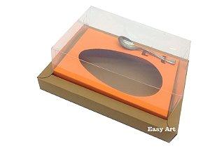 Caixa para Ovos de Colher 250g - Marrom Claro / Laranja