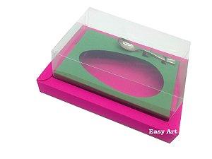Caixa para Ovos de Colher 250g Pink / Verde Bandeira