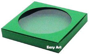 Caixa para Biscoitos / Porta Copos - Verde Bandeira - Pct com 10 Unidades