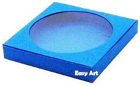 Caixa para Biscoitos / Porta Copos - Azul Turquesa - Pct com 10 Unidades