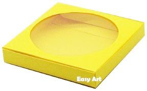 Caixa para Biscoitos / Porta Copos - Amarelo - Pct com 10 Unidades