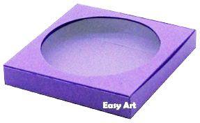 Caixa para Biscoitos / Porta Copos - Lilás - Pct com 10 Unidades