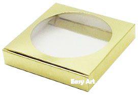 Caixa para Biscoitos / Porta Copos - Dourado Brilhante - Pct com 10 Unidades