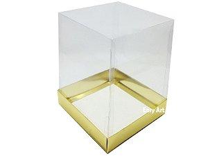 Caixinhas para Mini Bolos / Mini Panetones 10x10x10 - Dourado Brilhante