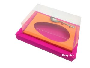 Caixa para Ovos de Colher 250g Pink / Laranja