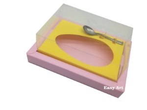 Caixa para Ovos de Colher 250g Rosa Claro / Amarelo