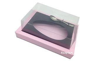 Caixa para Ovos de Colher 250g Rosa Claro / Preto