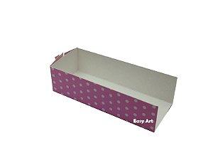 Embalagem para Fudje / Mini Churros - Rosa com Poás Brancas