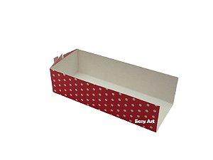 Embalagem para Fudje / Mini Churros - Vermelho com Poás Brancas