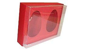 Caixas 2 Ovos de Colher de 500g Cada - Vermelho