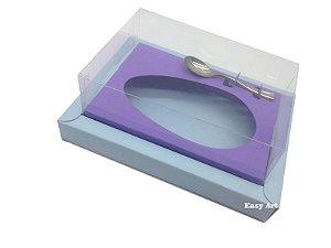 Caixa para Ovos de Colher 500g - Azul Claro / Lilás