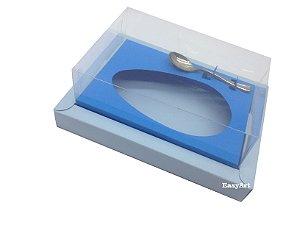 Caixa para Ovos de Colher 500g - Azul Claro / Azul Turquesa