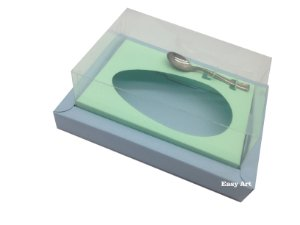 Caixa para Ovos de Colher 500g - Azul Claro / Verde Claro