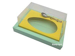 Caixa para Ovos de Colher 250g Verde Claro / Amarelo