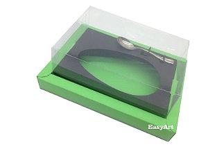 Caixa para Ovos de Colher 250g Verde Pistache / Preto