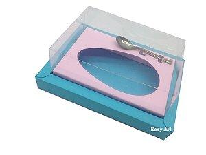 Caixa para Ovos de Colher 500g Azul Tiffany / Rosa Claro