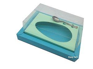 Caixa para Ovos de Colher 500g Azul Tiffany / Verde Claro