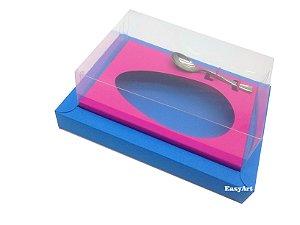 Caixa para Ovos de Colher 500g Azul Turquesa / Pink