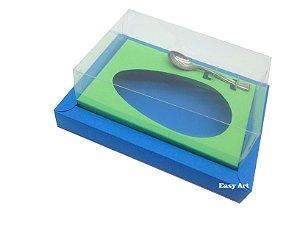 Caixa para Ovos de Colher 500g Azul Turquesa / Verde Pistache
