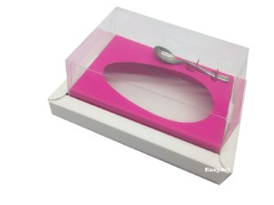 Caixa para Ovos de Colher 500g Branco / Pink