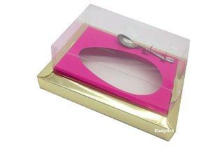Caixa para Ovos de Colher 500g Dourado / Pink