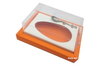 Caixa para Ovos de Colher 500g Laranja / Branco