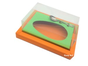 Caixa para Ovos de Colher 500g Laranja / Verde Pistache