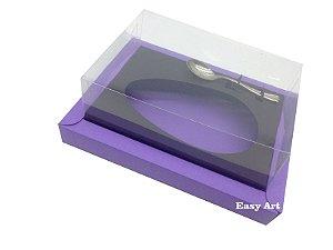 Caixa para Ovos de Colher 500g Lilás / Preto