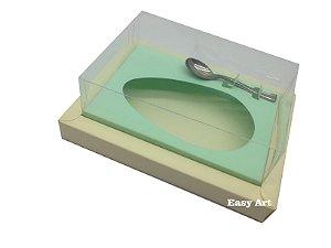 Caixa para Ovos de Colher 500g Marfim / Verde Claro